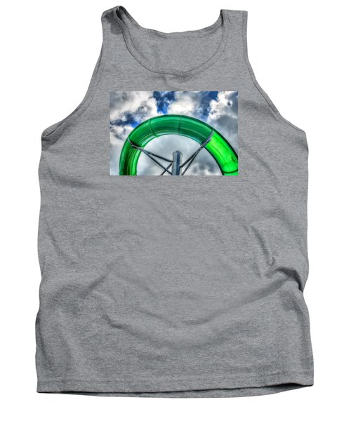 Arc Of The Water Slide Tank Top by Gary Slawsky