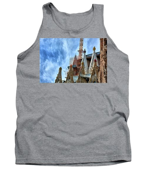 Architectural Details Of The Sagrada Familia Tank Top