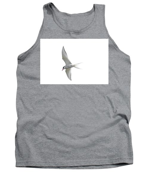 Arctic Tern Flying In Mist Tank Top
