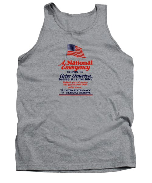 Arise America Before It Is Too Late - Join The Navy Tank Top