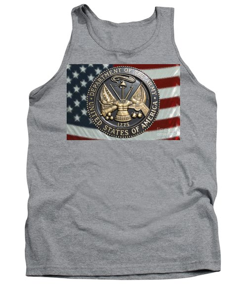 Army Proud Tank Top by Myrna Bradshaw
