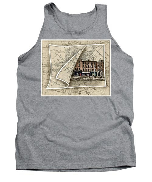 Arran Quay Dublin Map Tank Top