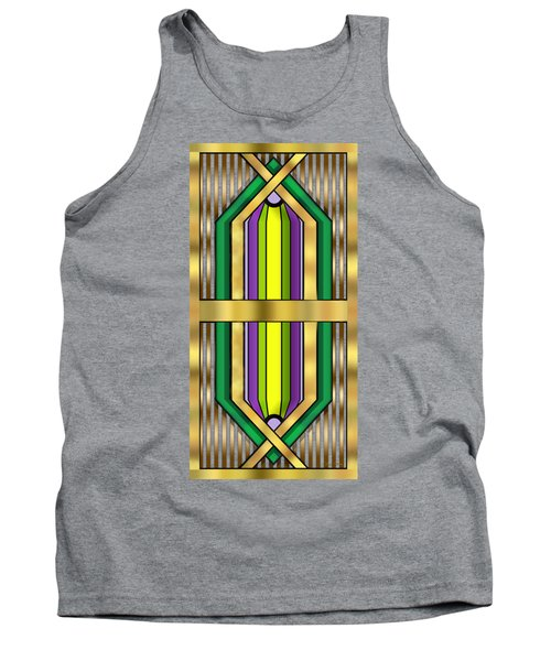 Art Deco 14 Vertical - Chuck Staley Tank Top by Chuck Staley