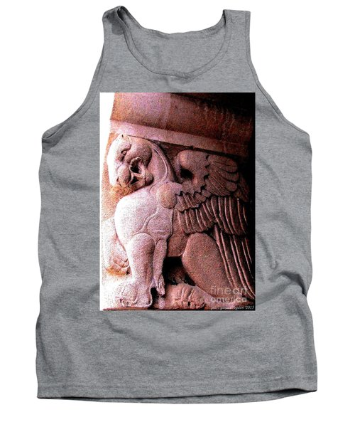 Tank Top featuring the photograph Art Deco Griffin Circa 1925 by Peter Gumaer Ogden