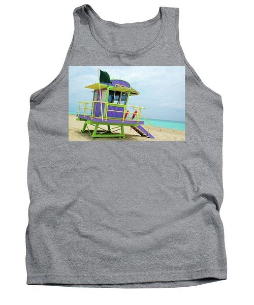 Art Deco Lifeguard Shack Tank Top