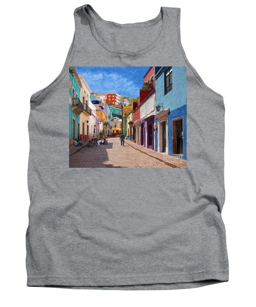 Art Students Drawing A Street In Guanajuato Tank Top