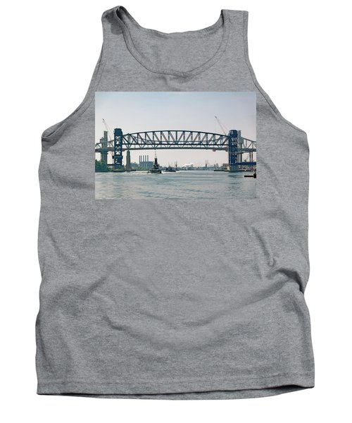 Tank Top featuring the photograph Arthur Kill The Four Tugs by Steven Richman