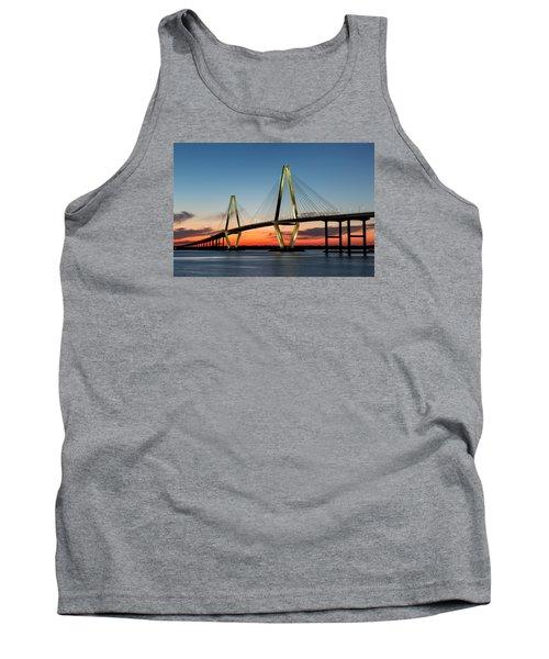 Arthur Ravenel Bridge, Charleston At Twilight Tank Top