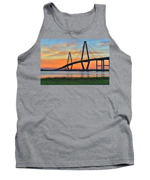 Arthur Ravenel Jr. Bridge At Dusk - Charleston Sc Tank Top