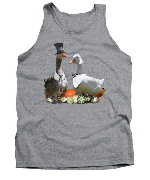 Thanksgiving Pilgrim Ducks Tank Top