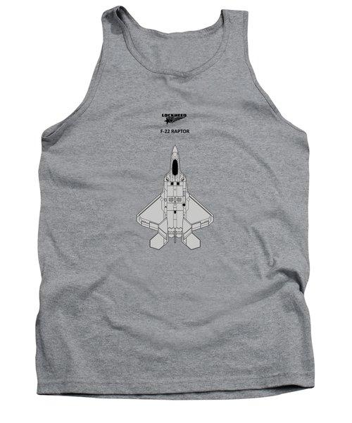 F-22 Raptor - White Tank Top