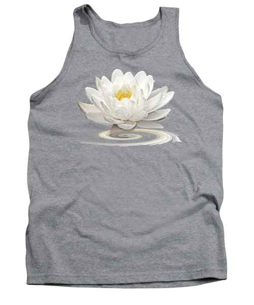 Inner Glow - White Water Lily Tank Top