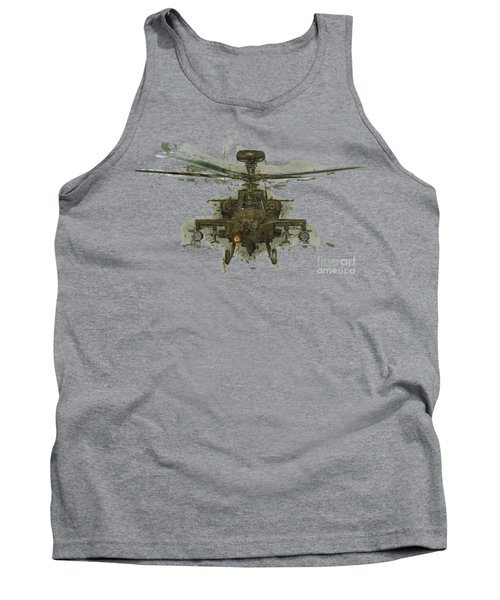Apache Helicopter Abstract Tank Top by Roy Pedersen
