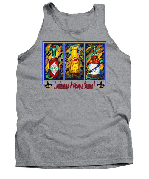 Louisiana Awesome Sauces Tank Top by Dianne Parks