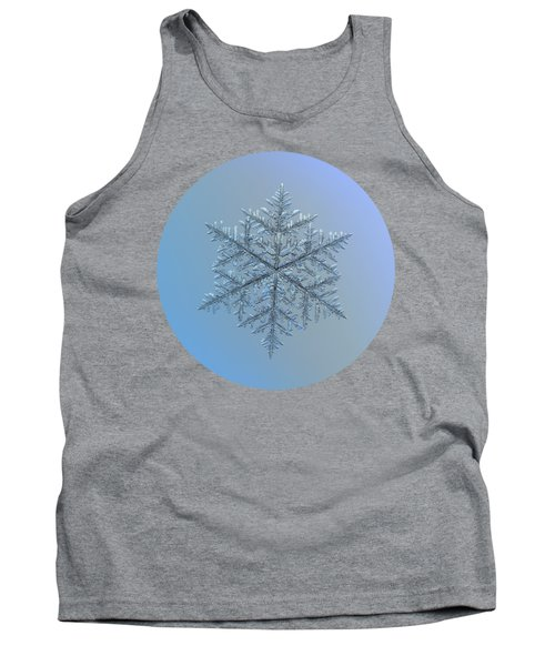 Snowflake Photo - Majestic Crystal Tank Top by Alexey Kljatov