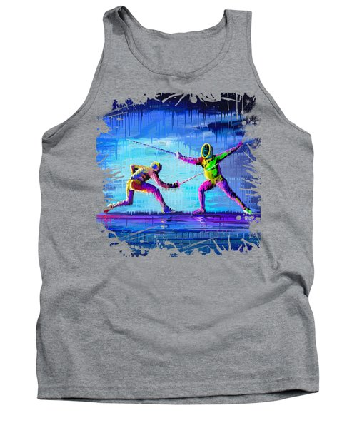 Sword Sparring Painting Tank Top