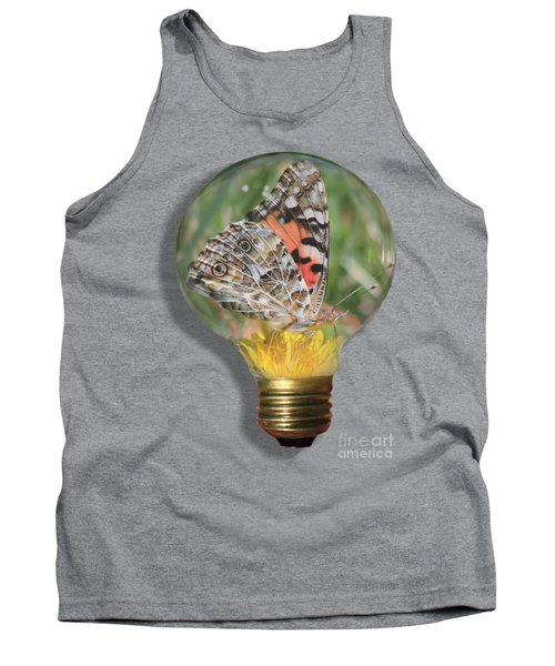 Butterfly In Lightbulb Tank Top