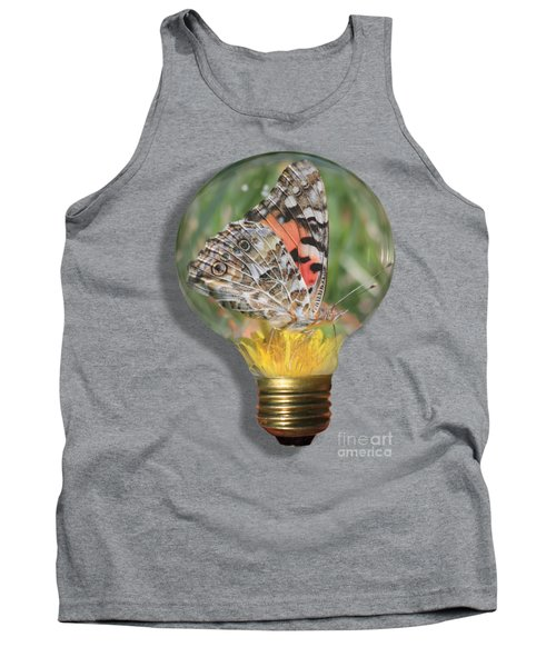 Butterfly In Lightbulb Tank Top