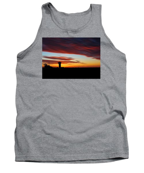 Tank Top featuring the photograph Sunrise Over Golden Spike Tower by Bill Kesler