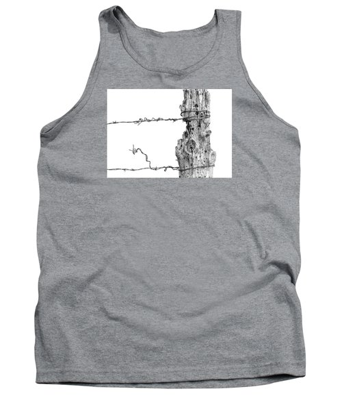 Tank Top featuring the photograph Post With Character by Bill Kesler