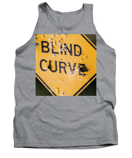 Tank Top featuring the photograph Blind Curve by Bill Kesler