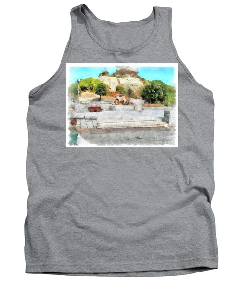 Arzachena Mushroom Rock With Children Tank Top