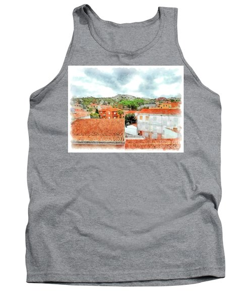Arzachena Urban Landscape With Mountain Tank Top