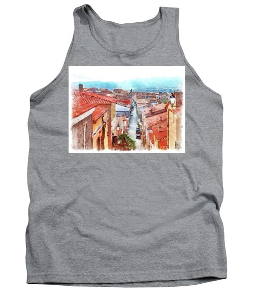 Arzachena View Of The Corso Garibaldi Tank Top