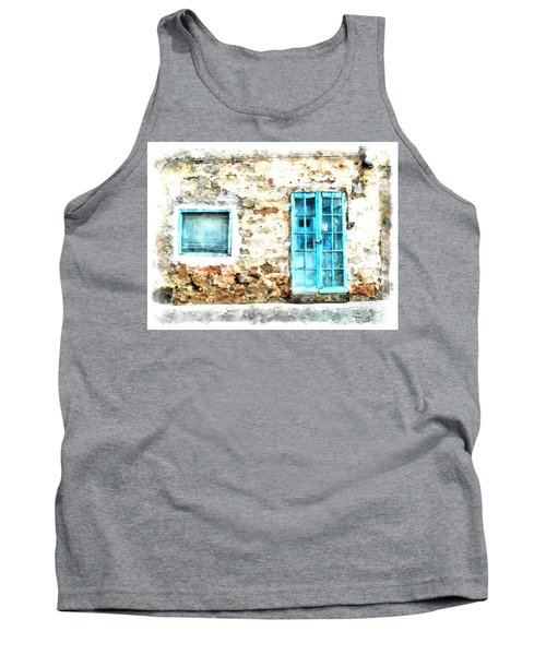 Arzachena Window And Blue Door Store Tank Top