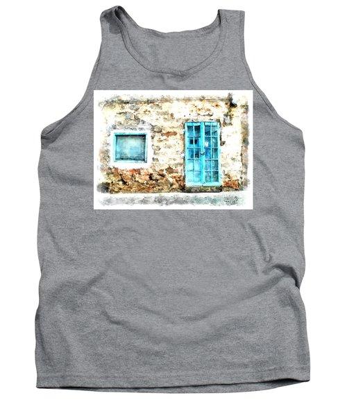 Arzachena Window And Blue Door Store Tank Top