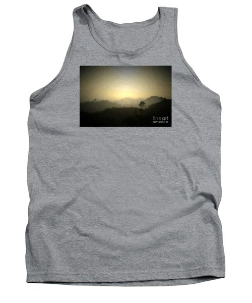 Ascend The Hill Of The Lord - Digital Paint Effect Tank Top by Sharon Soberon