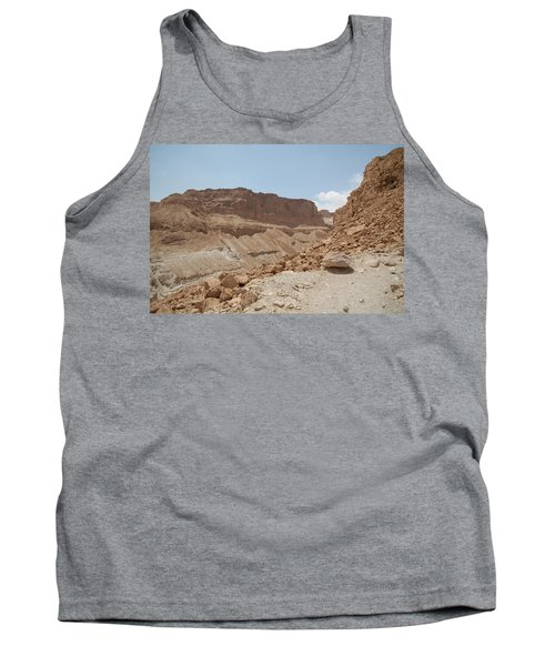 Tank Top featuring the photograph Ascension To Masada - Judean Desert, Israel by Yoel Koskas