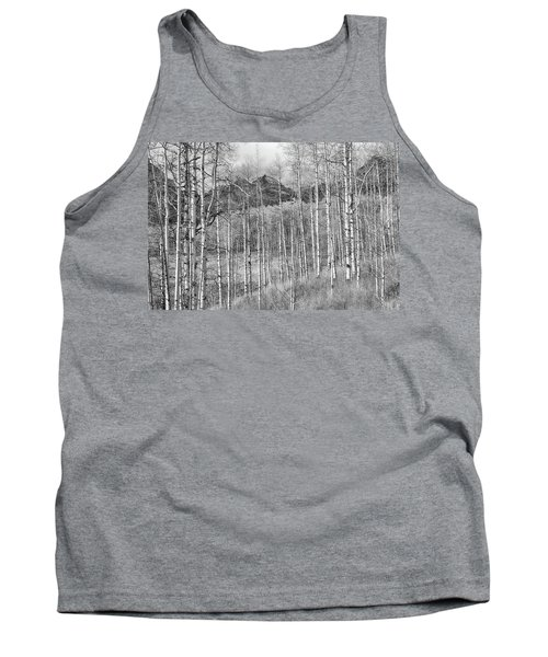 Tank Top featuring the photograph Aspen Ambience Monochrome by Eric Glaser