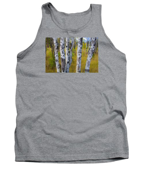 Tank Top featuring the photograph Aspens by Gary Lengyel
