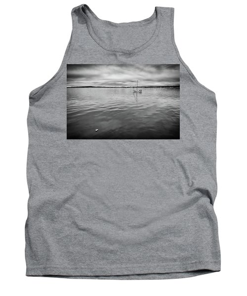 Tank Top featuring the photograph At Anchor In The Harbor by Rick Berk