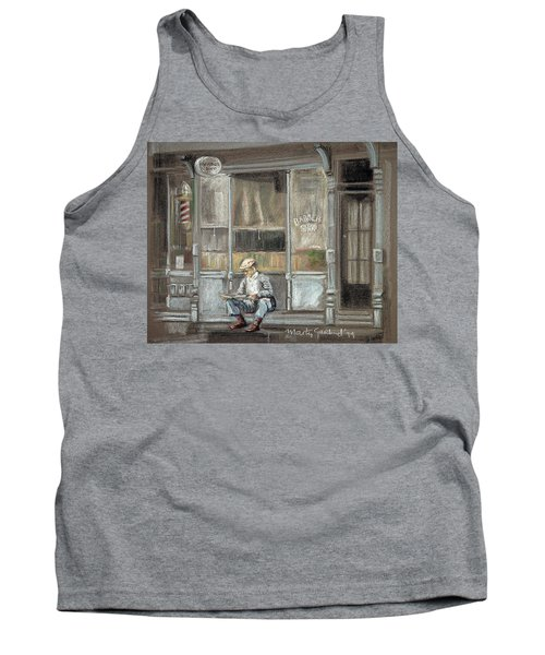 At The Barber Shop Tank Top by Marty Garland