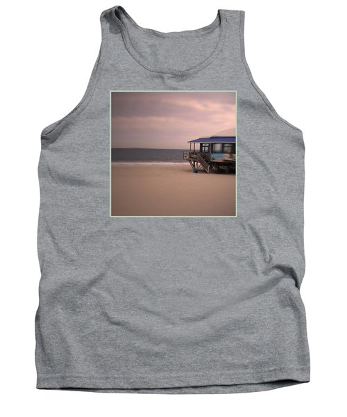 Tank Top featuring the photograph At The Beach by Desline Vitto