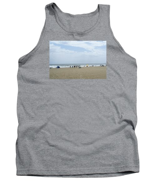 At The Beach Tank Top by Heidi Poulin