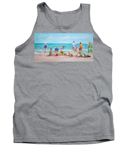 Tank Top featuring the painting At The Beach by Patricia Piffath
