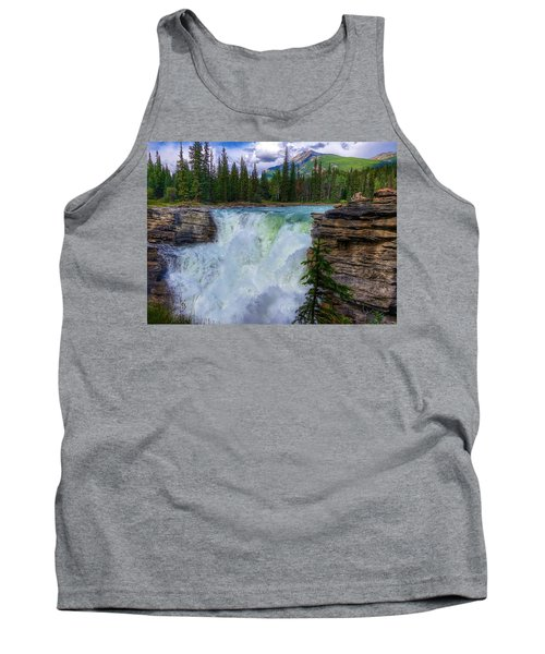 Athabasca Falls, Ab  Tank Top by Heather Vopni