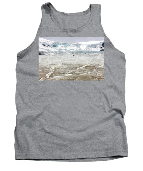Tank Top featuring the photograph Athabasca Glacier With Guided Expedition by Pierre Leclerc Photography