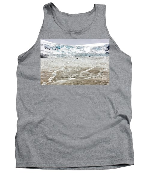 Athabasca Glacier With Guided Expedition Tank Top