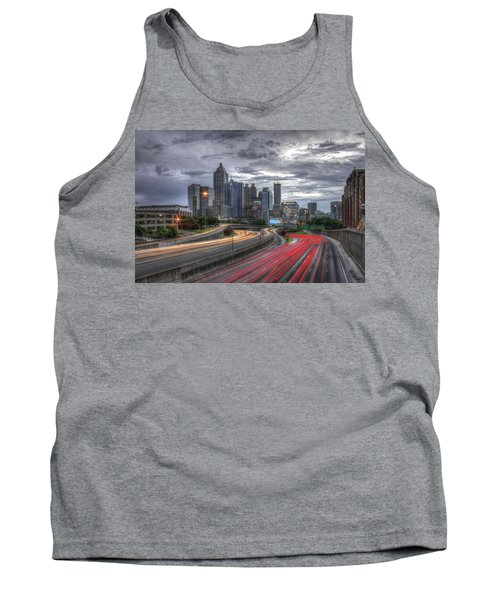 Atlanta Lights Up Downtown I-75 I-85 Tank Top