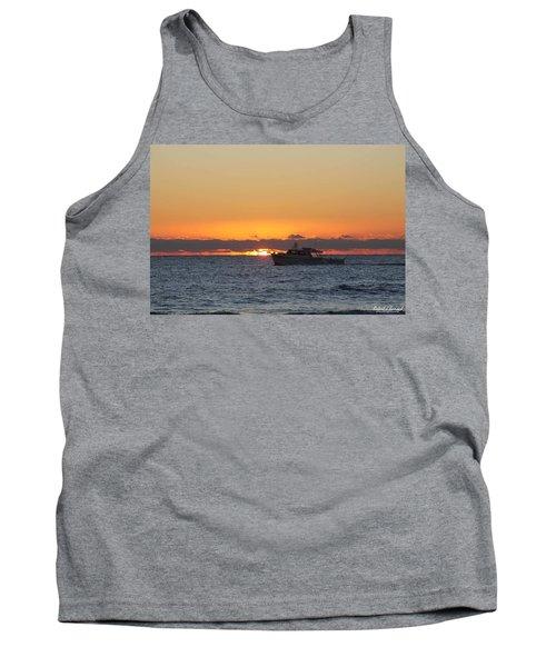Atlantic Ocean Fishing At Sunrise Tank Top