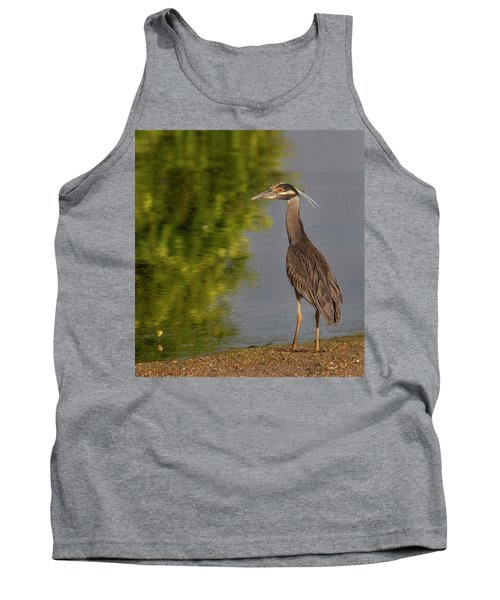 Tank Top featuring the photograph Attentive Heron by Jean Noren