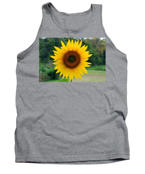 Tank Top featuring the photograph August Sunflower by Jeff Severson