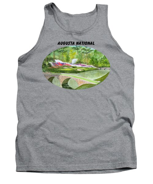 Augusta National Golf Course With Banner Tank Top by Bill Holkham
