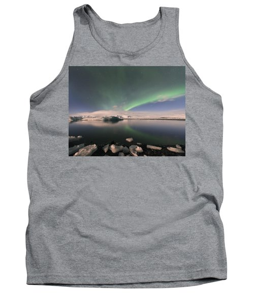 Tank Top featuring the photograph Aurora Borealis And Reflection by Wanda Krack