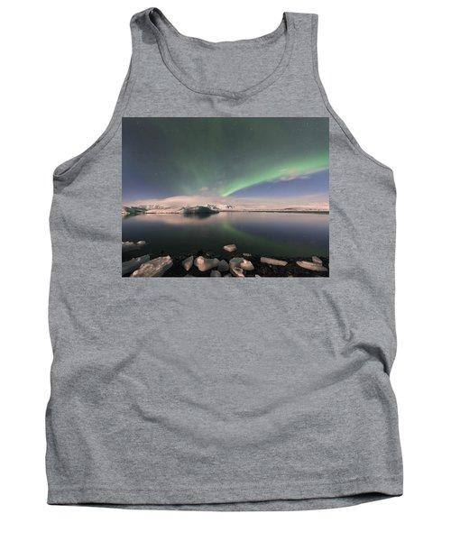 Aurora Borealis And Reflection Tank Top