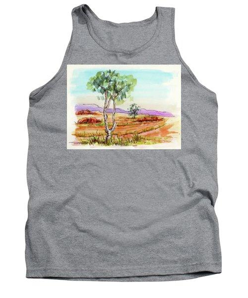 Australian Landscape Sketch Tank Top